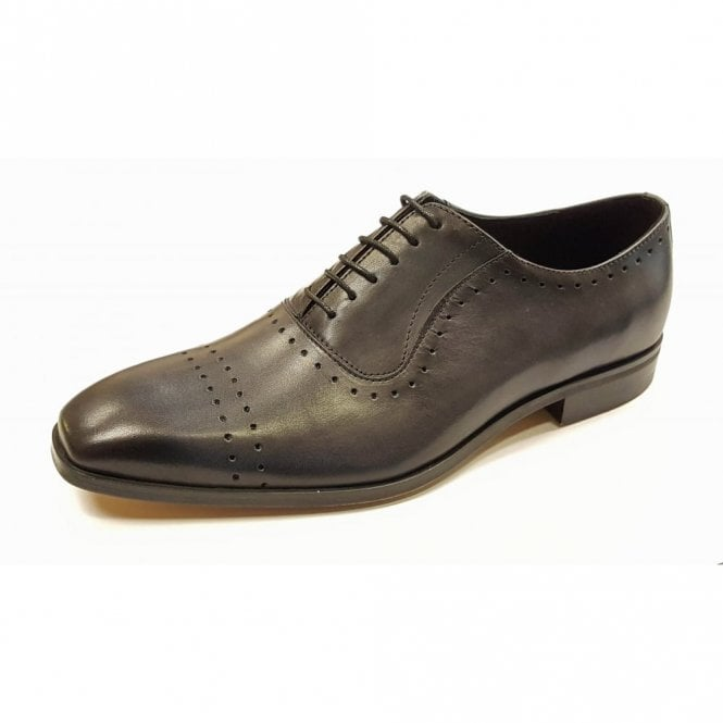 Lacuzzo L-5453 Charcoal Grey Leather Lace Up Shoe