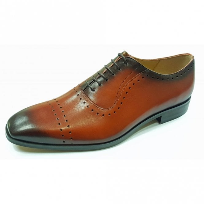 Lacuzzo L-5453 Burnished Tan Leather Lace Up Shoe