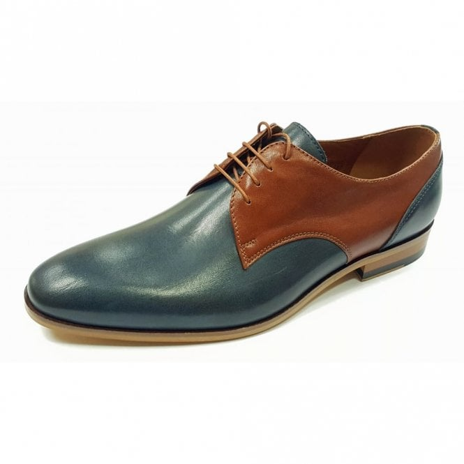 Lacuzzo L-6091 Navy / Brown Leather Lace Up Shoe