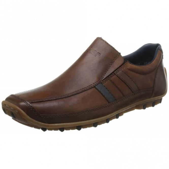 Rieker 08972-25 Brown Leather Mens Shoe