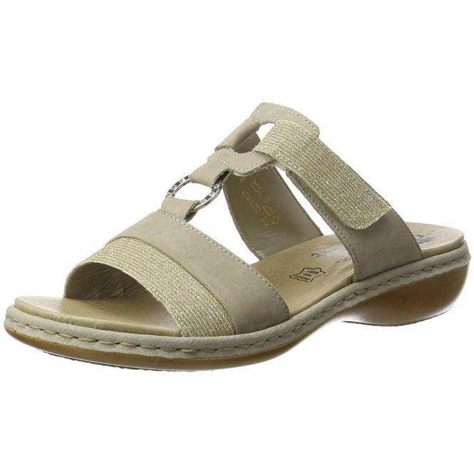 Rieker 65979-91 Grey / Light Gold Sandal