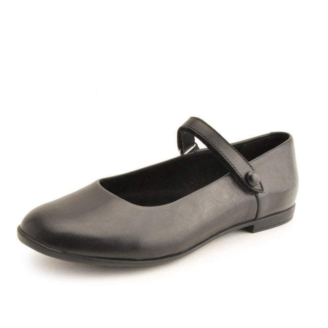 Start-rite Florence Black Leather Velcro Shoe