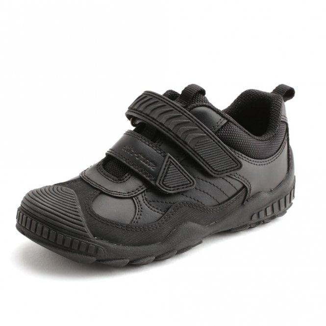 Start-rite Extreme Pri Black Leather Boys Shoe