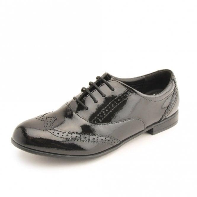 Start-rite Matilda Black Patent Brogue Lace Up Shoe