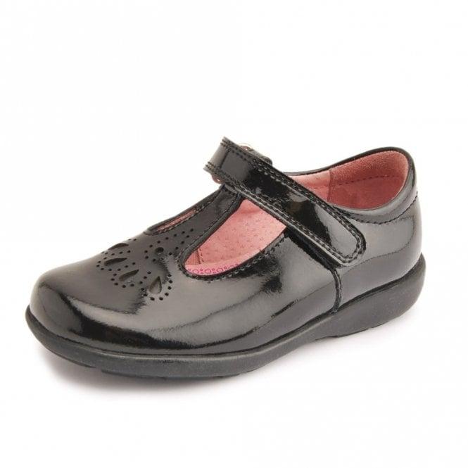 Start-rite Daisy May Black Patent T-Bar Girl's Shoe