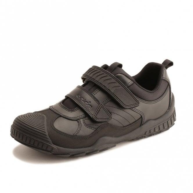 Start-rite Extreme Snr Black Leather Boys Shoe