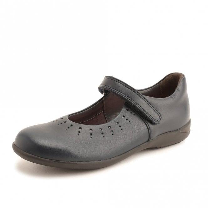 Start-rite Mary Jane Navy Leather Girl's Shoe