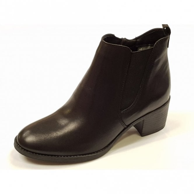 Tamaris 25043-29 Black Leather Ankle Boot