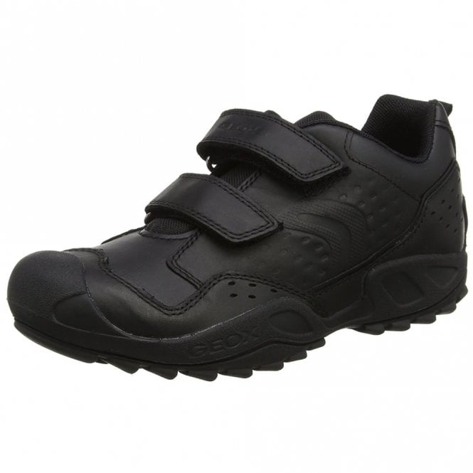Geox J New Savage Boy Black Leather Boys Shoe