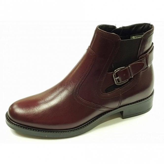 Tamaris 25002-29 Bordeaux Leather Ankle Boot