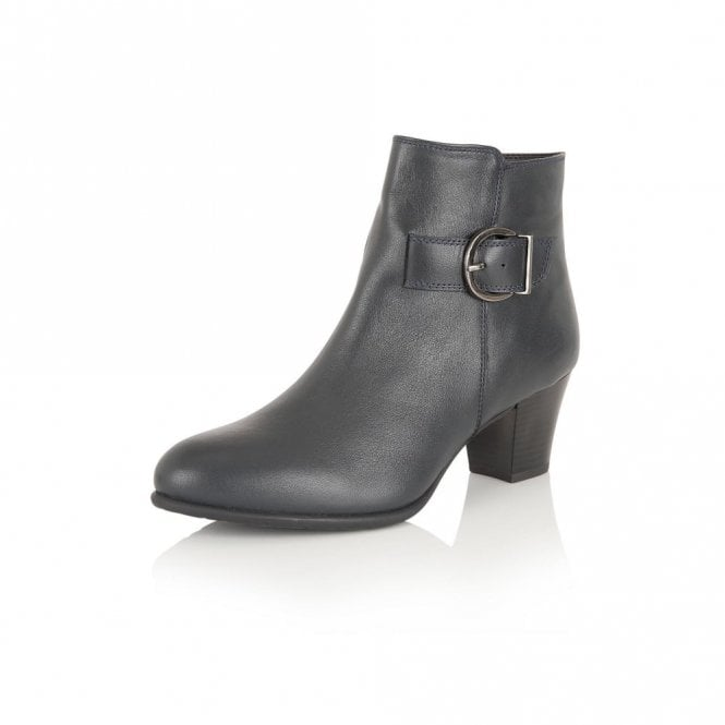 Lotus Genevieve Navy Leather Ankle Boot