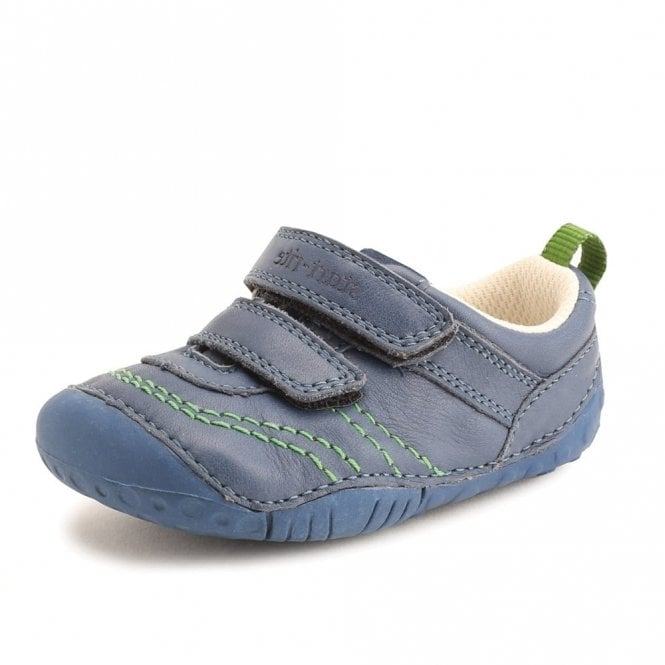 Start-rite Baby Leo Blue Leather Boys First Shoe