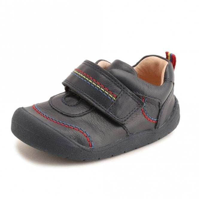 Start-rite First Zak Navy Leather Boys Shoe