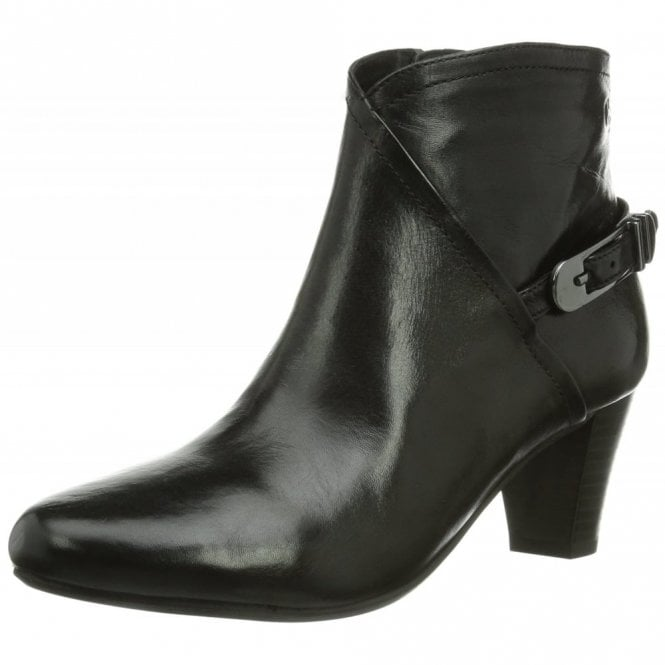Gerry Weber Lena 06 Black Leather Ankle Boot
