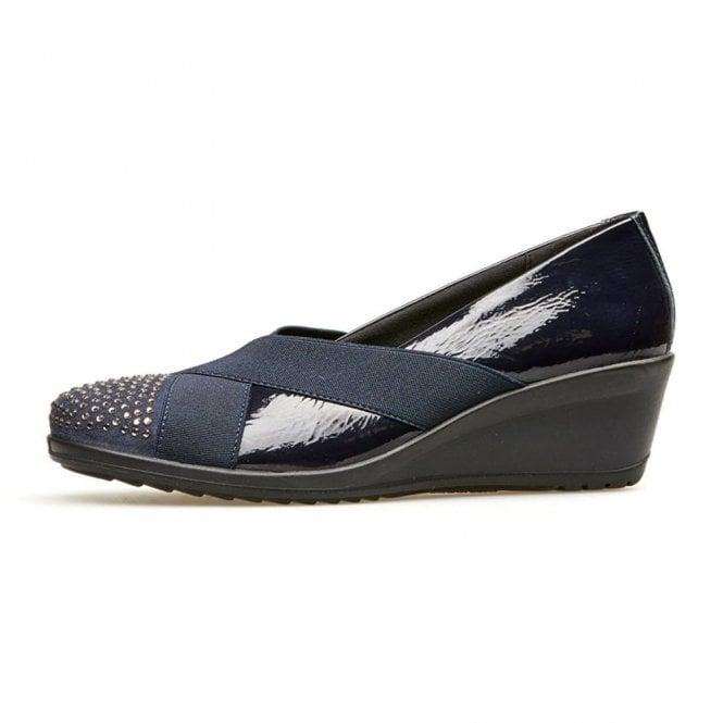 Van Dal Charity Navy Patent Multi Wedge Shoe
