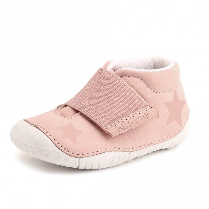 Start-rite Baby Star Pink Nubuck Leather Girls Velcro Pre-walkers