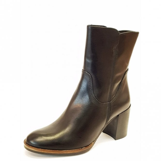 Tamaris 25049-29 Black Leather Leather Ankle Boot