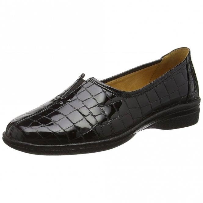 Gabor Alice 96.033.97 Black Patent / Croc Pump Shoe