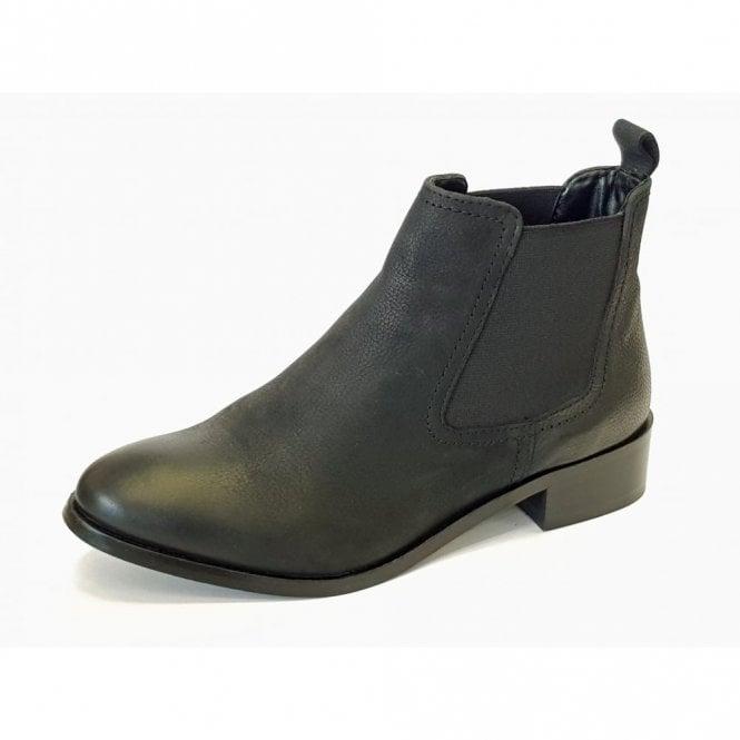 Lunar Merilee GLH492 Black Leather Ladies Chelsea Boot