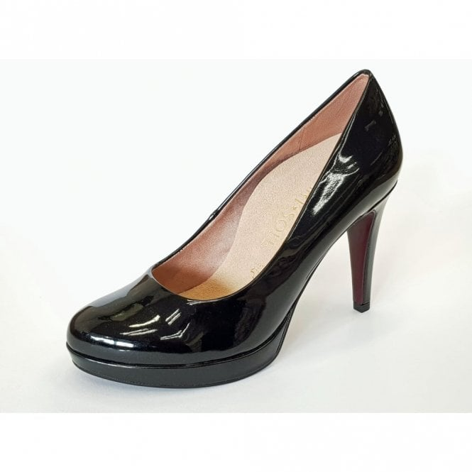 Tamaris 22414-29 Black Patent Court Shoe