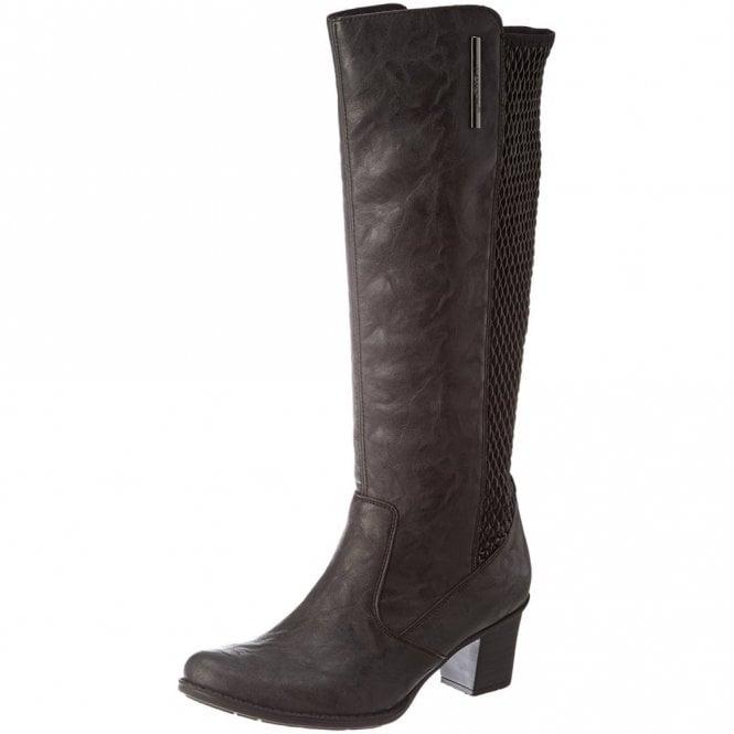 Rieker Z7695-45 Graphite / Black Long Legged Boot