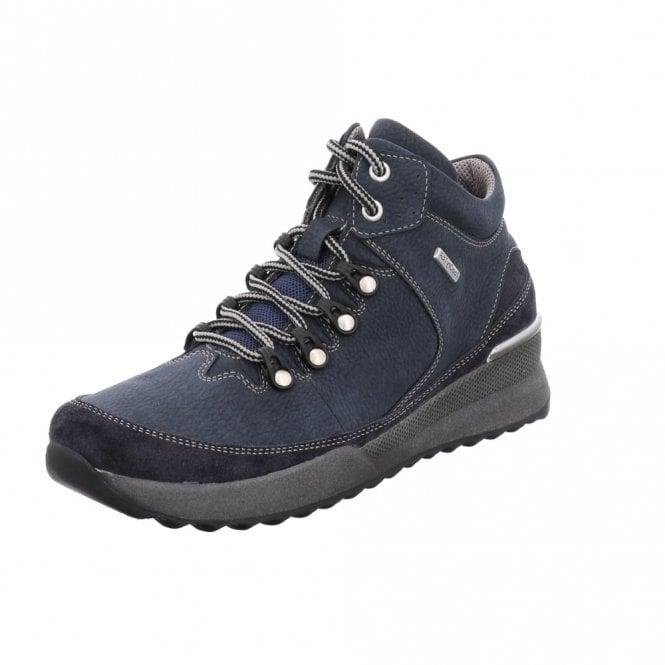 Romika Victoria 05 Marine Navy Blue Leather Waterproof Boot