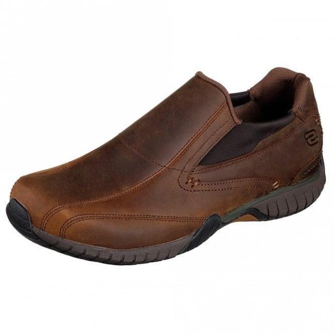 Skechers Classic Fit: Sendro - Bascom Brown Leather Shoe