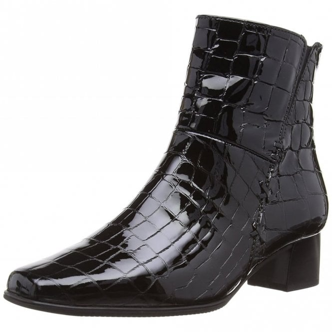 Bassanio 76.620.97 Black Patent Croc Ankle Boot