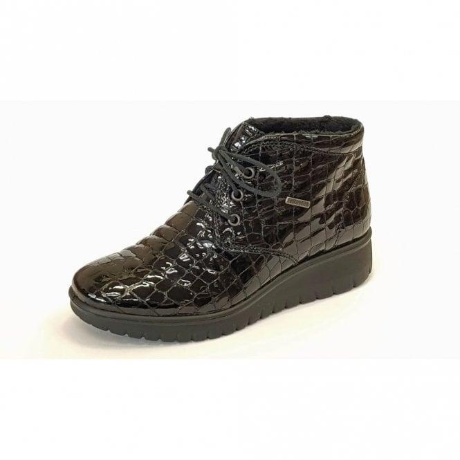 Romika Varese N 13 Black Patent Croc Boot