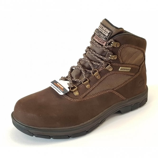 Skechers Relaxed Fit: Segment - Mixon Brown Nubuck Leather