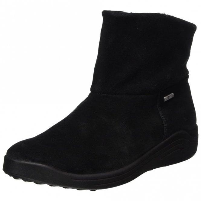 Romika Madera 10 Black Leather Waterproof Boot