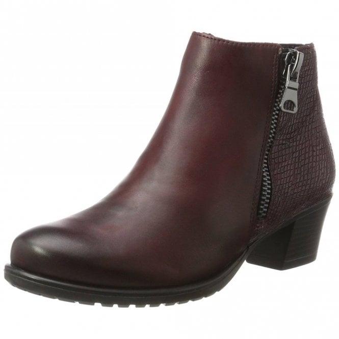 Remonte Dorndorf D3187-35 Bordeaux Leather Ladies Ankle Boot
