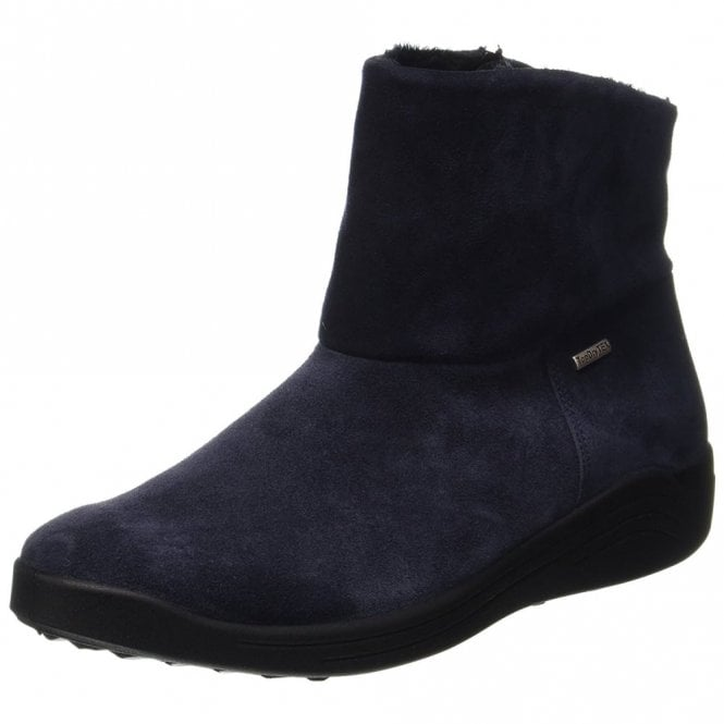 Romika Madera 10 Jeans Navy Leather Waterproof Boot
