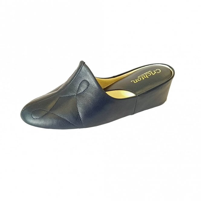 Relax Dulcie 7312 Navy Leather Ladies Slipper