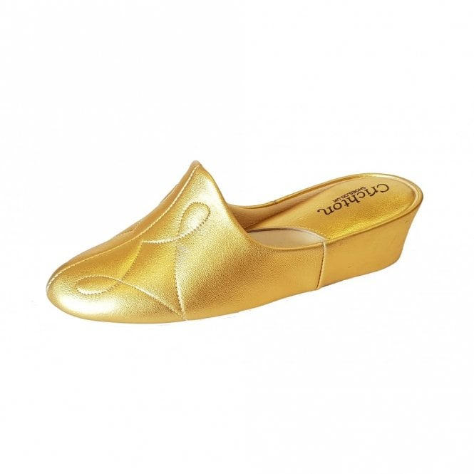 Relax Dulcie 7312 Gold Leather Ladies Slipper