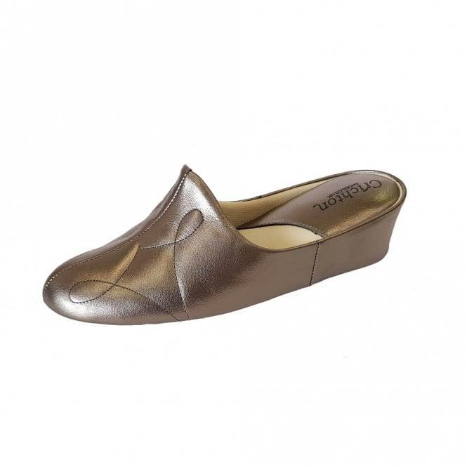 Relax Dulcie 7312 Pewter Leather Ladies Slipper