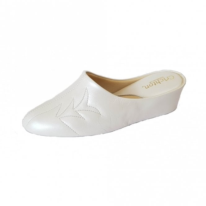 Relax Natalia 7352 Oyster Pearl Leather Slipper