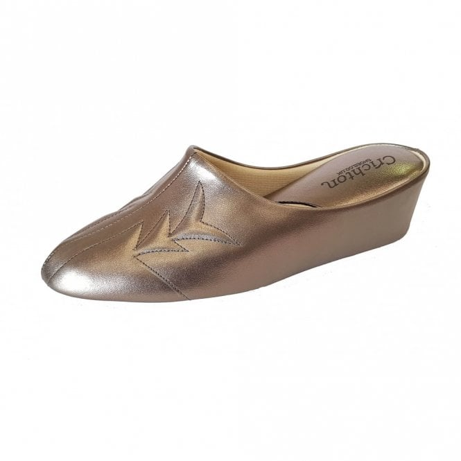 Relax Natalia 7352 Pewter Leather Ladies Slipper