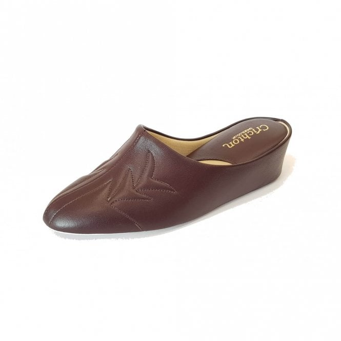 Relax Natalia 7352 Wine Leather Ladies Slipper