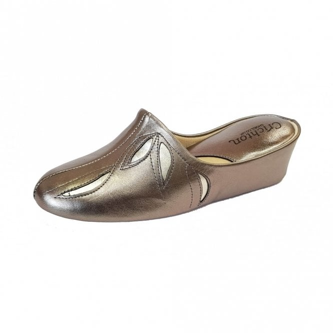 Relax Molly 3542 Pewter Leather Ladies Slipper