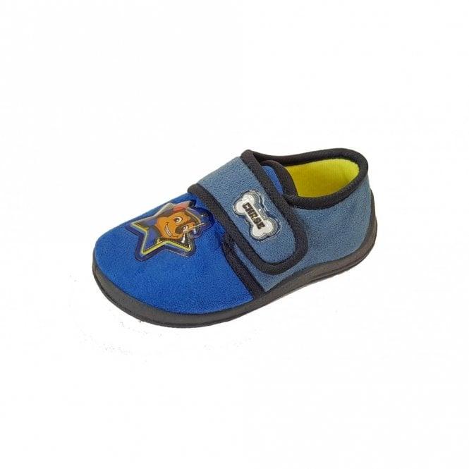 Paw Patrol Blue Fabric Boys Slipper