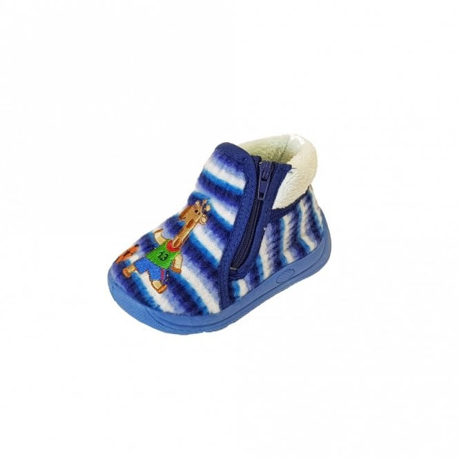 Mirak Safari Blue Fabric Boys Slipper