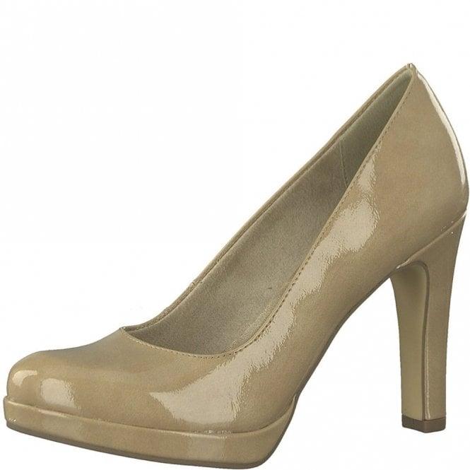 Tamaris 22426-20 Dune / Nude Patent Shoe