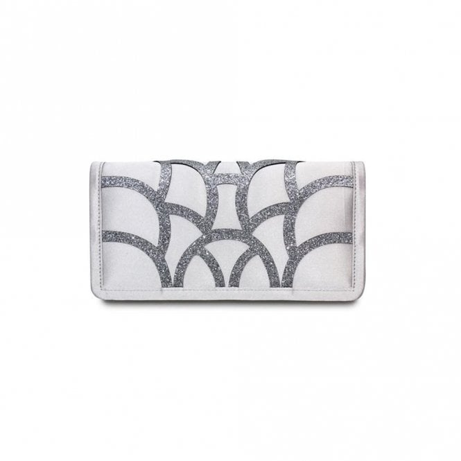 Lunar Dalia ZLR470 Grey Satin Handbag