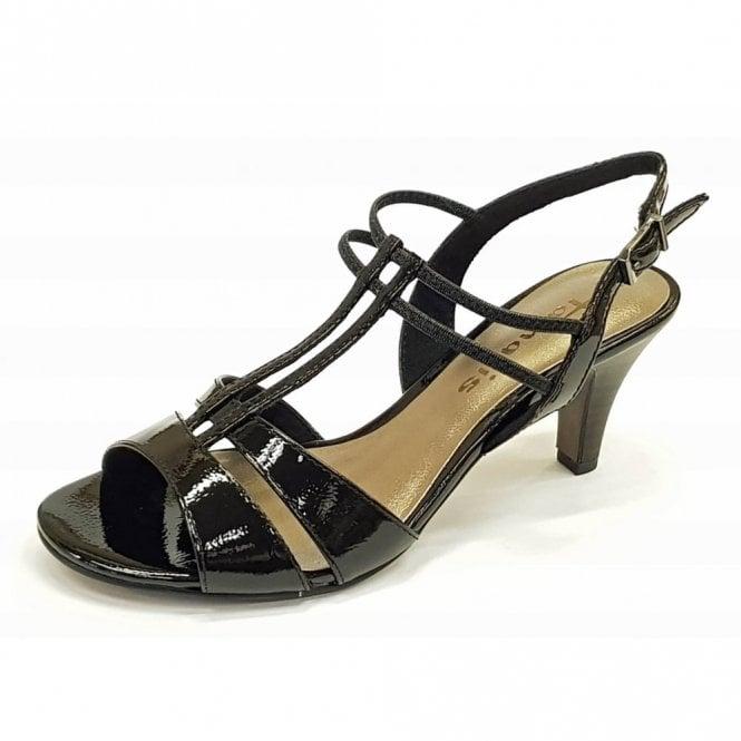 Tamaris 28304-20 Black Patent / Synthetic Sandal