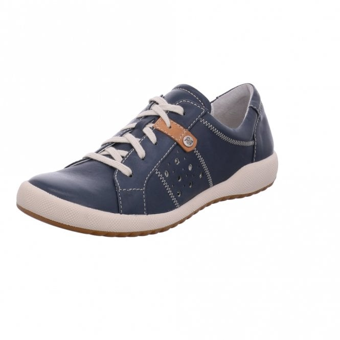 Romika Cordoba 01 Ocean Navy Leather Lacing Shoe