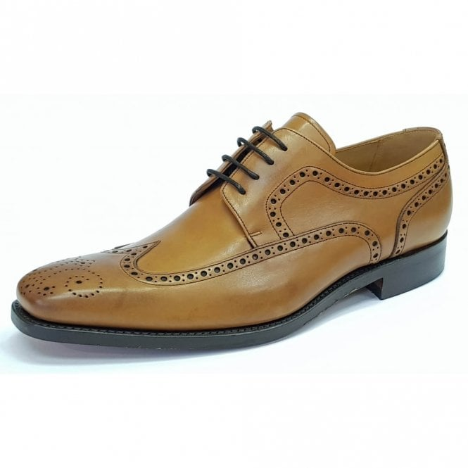 Barker Larry Cedar Tan Leather Lace Up Brogue Shoe