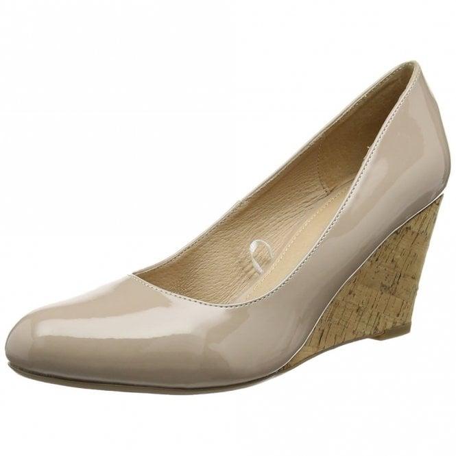 Lotus Jelico Nude Patent Wedge Shoe