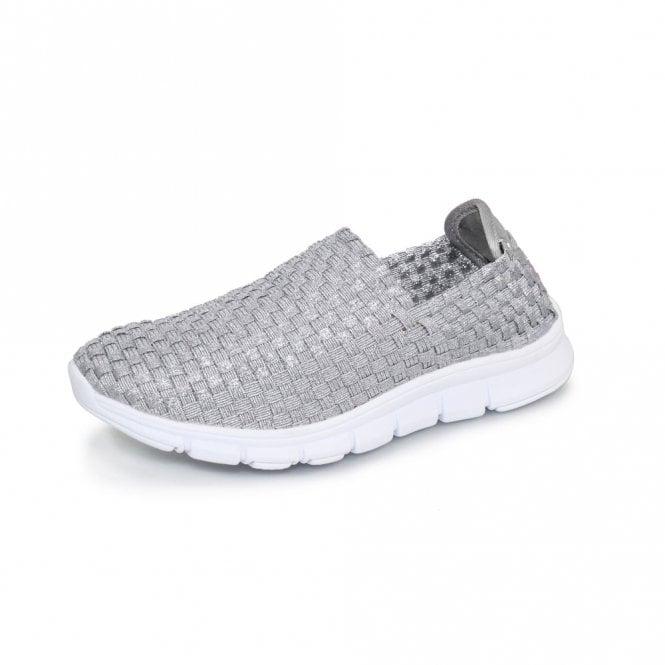Lunar Maverick FLK014 Silver Elastic Shoe