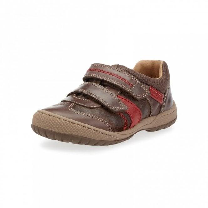 Start-rite Flexy Tough Pre Brown Leather Boys Shoe